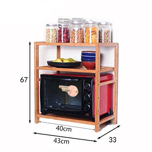 ZWL Estante para horno de microondas, estante de almacenamiento ...