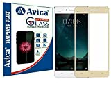 AVICA Full Edge To Edge Cover GOLD 3D Curved Tempered Glass Screen Protector For Vivo V3 Max