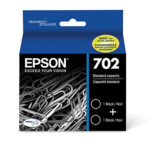 Epson T702120-D2 DURABrite Ultra Black Dual Pack Standard Capacity Cartridge Ink