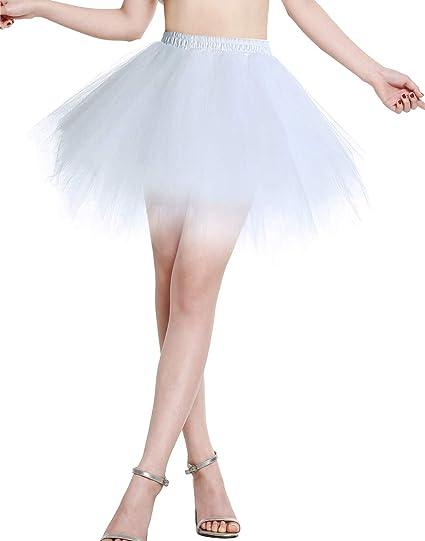 Berylove Mujer Falda de Tul Tutú Ballet Enaguas Plisada Cortas ...