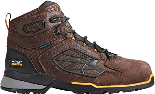 Mens 11 Boot 6 Ariat Brown Rebar 5 Medium Width Work Waterproof Chocolate Industrial inch Flex D Snwzfaqdw