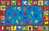 Kid Carpet FE755-34A Bible Sunday School Nylon Area Rug with Abcs, 6' x 8'6'', Multicolored