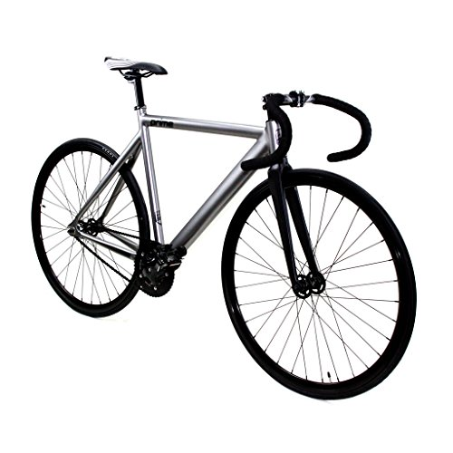 es Fixed Gear Bike Single Speed Track Alloy Frame with Drop Bars Grey Black (53) (Series Fixed Fixed Frame)