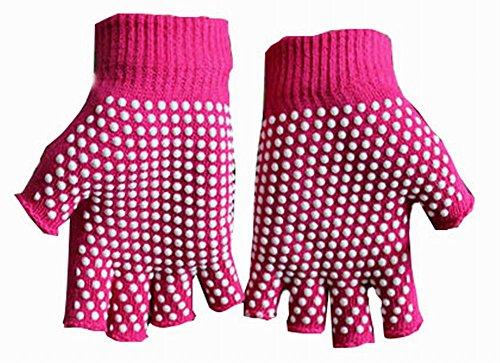 女性のヨガの手袋実用的なノンスリップの漫画の手袋、レッド