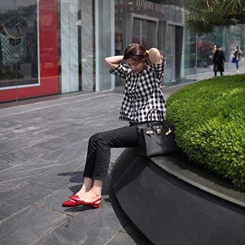 KPHY-Baotou Gut Kopf Weiblich Sandalen Damen - Mode des Flachem Absatz Beine Damenschuhe.38 des Mode - 3adf7b