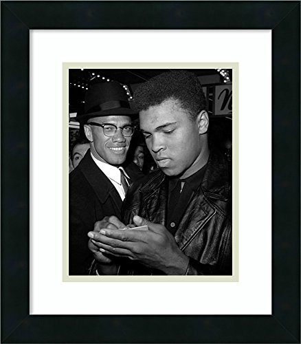 Ali Photo (Framed Art Print 'Muhammad Ali and Malcolm X, NYC, March 1, 1964' by McMahan Photo Archive)
