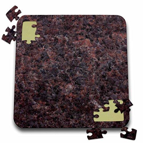 Mahogany Dakota Granite (3dRose ToryAnne Collections Granite - Dakota Mahogany Granite Print - 10x10 Inch Puzzle (pzl_97945_2))