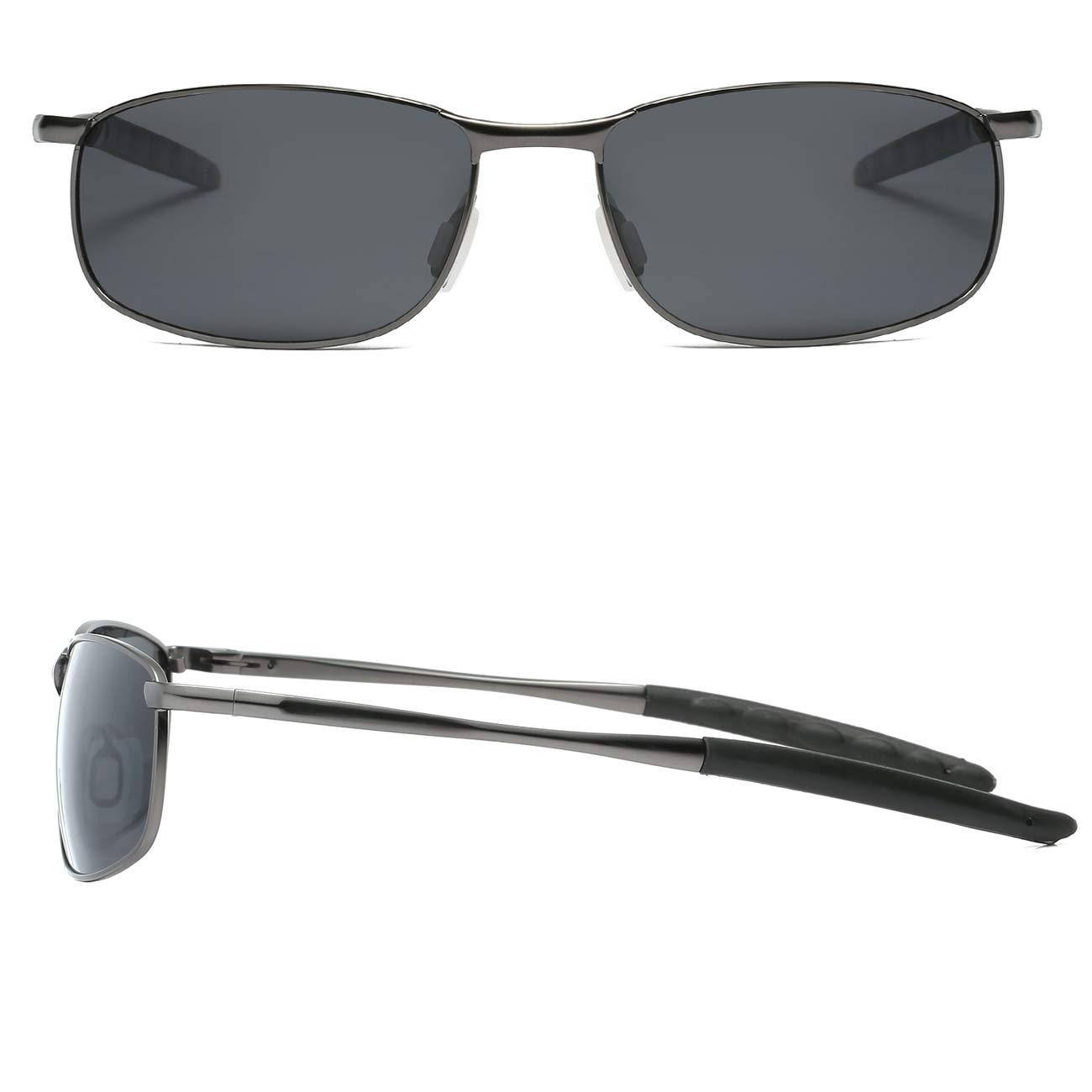 f11b02022b58 FEIDU Polarized Sport Mens Sunglasses HD Lens Metal Frame Driving ...