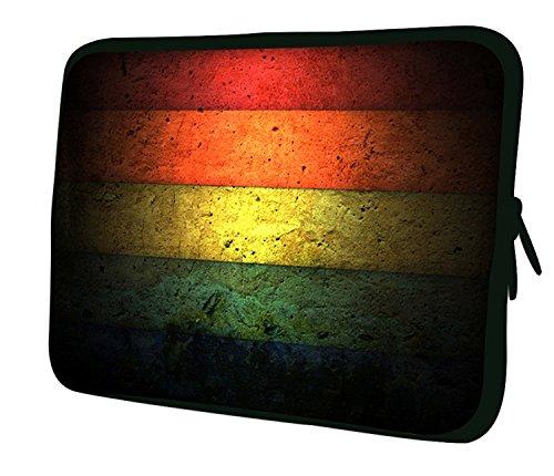 """10""""-17.6"""" Pulgadas Bolso con diseño, Funda en Neopreno para Ordenador Portátil. Muchos diseños y tamaños disponibles!! (Part 2 of 3) Rayas multicolores"""