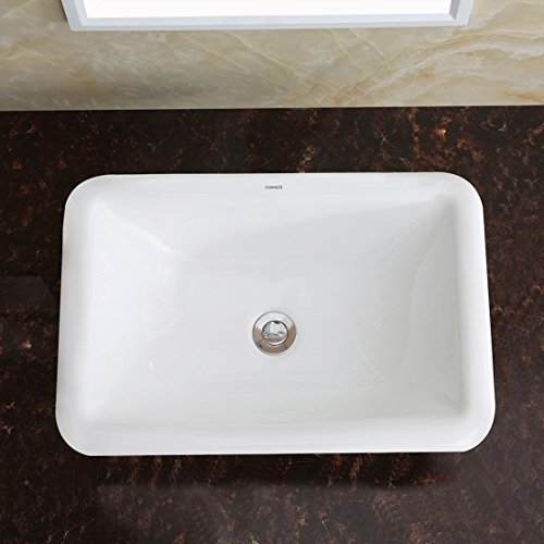 Changie 1027w Bathroom Top Mount Vanity Sink Porcelain