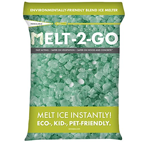 Snow Joe AZ-25-EB Melt-2-Go Nature + Pet Friendly CMA Blended Ice Melter, 25-lb Resealable Bag