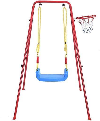 Amazon.com: Auvem - Juego de columpio y baloncesto para ...