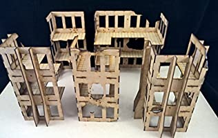 Damaged Commercial Buildings - Wargames Building/scenery