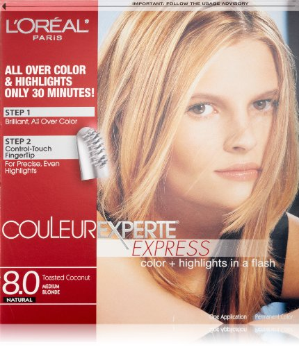 L'Oreal Paris Couleur Experte Color + Highlights in a Flash, Medium Blonde/Toasted Coconut