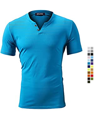 Mens T-Shirts Regular Fit T-Shirts Casual Cotton Short Sleeve Tee Shirts, 23 Colors