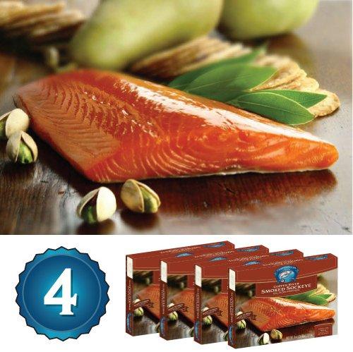 4 - 8oz Smoked Copper River Sockeye Salmon (2 Lbs Total)