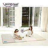 [Alzip Mat] Folding, Non-Toxic, Reversible G Playmat -Modern Gray Color (200x140x4cm)