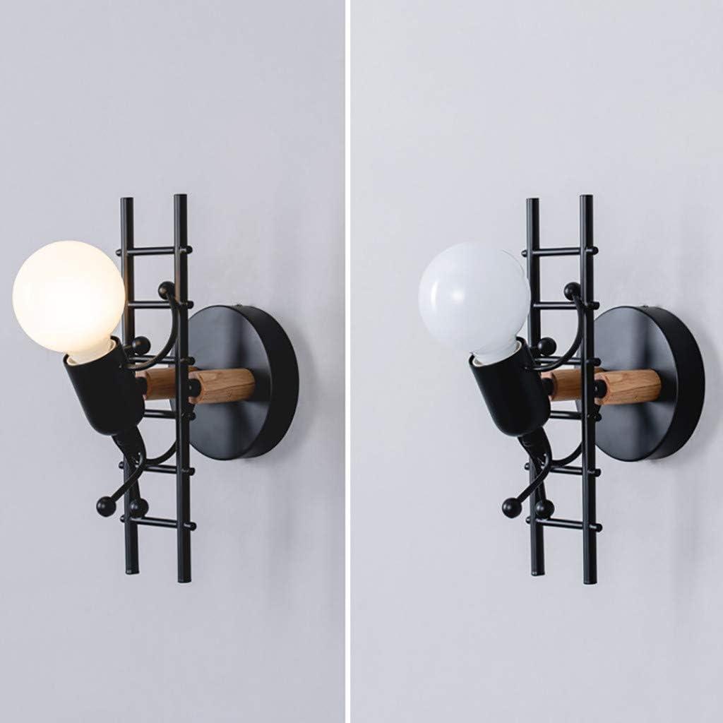 Restaurants Ampoules Non incluses Koojawind E27 Vintage r/étro LOFT Style Industriel m/étal Art Restaurant Cafe Villain Escalade Applique Murale pour Maison caf/é Bar