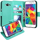 Grand Prime Case, LK Galaxy Grand Prime Wallet Case, Luxury PU Leather Case Flip Cover with Card Slots Stand For Samsung Galaxy Grand Prime, MINT
