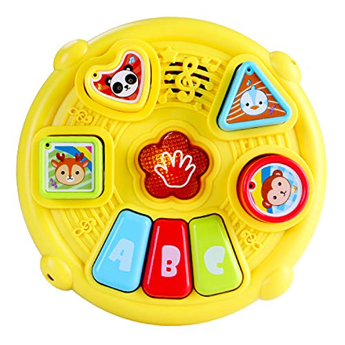Learn and Groove Color Play Drum and Activity Cube - Baby Drum Toddler Music Toy and Play Set - Learning Mode, Drum Mode and Piano