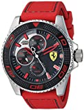 Ferrari Men's 'KERS Xtreme' Quartz Stainless Steel and Silicone Casual...