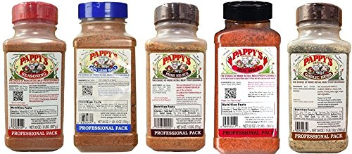 Pappy's Choice Seasoning 5 Piece Assortment (Save on Shipping) by Pappy's