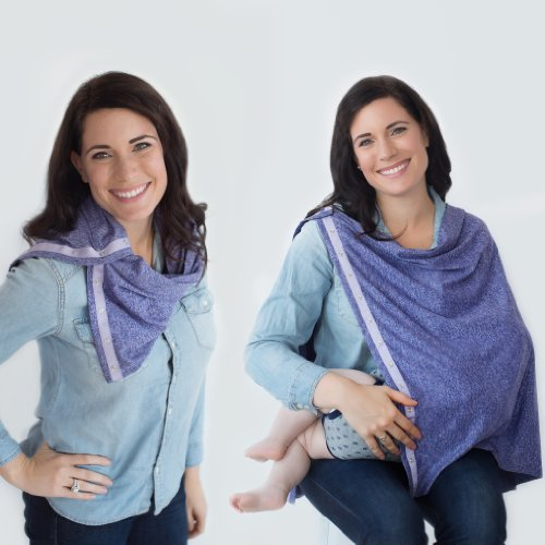 Nuroo Nursing Scarf. Turn a stylish scarf into a nursing cover anytime anywhere (Puprle Heather) by NuRoo (Image #4)
