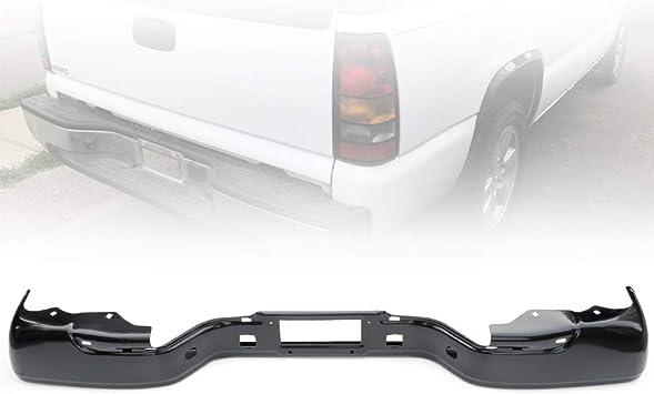 Heavy Duty Black Stainless Steel Rear Step Bumper Face Bar for Chevy Silverado GMC Sierra 99-07
