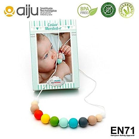 Collar de Lactancia Mordedor de Silicona Antibacteriana Para Dentición Modelo Multicolor