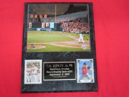 Cal Ripken Jr Orioles 2 Card Collector Plaque w/8x10 Color Photo RB HIT (Cal Ripken World Series Baseball)