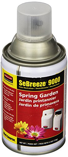 Aerosol Neutralizer Refill Air - Rubbermaid 5158 SeBreeze 9000 Spring Garden Odor Neutralizer Aerosol Canister