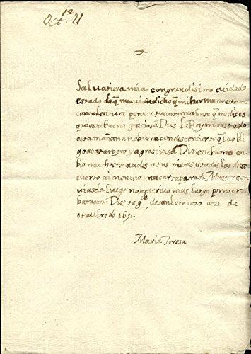 Amazon.com: Queen Maria Teresa (France) - Autograph Letter ...
