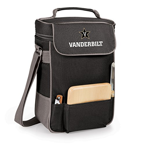 (PICNIC TIME NCAA Vanderbilt Commodores Duet Insulated Wine and Cheese Tote with Team Logo)