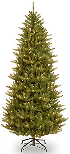 7.5' Pre-Lit Natural Fraser Slim Artificial Christmas Tree - Clear Lights