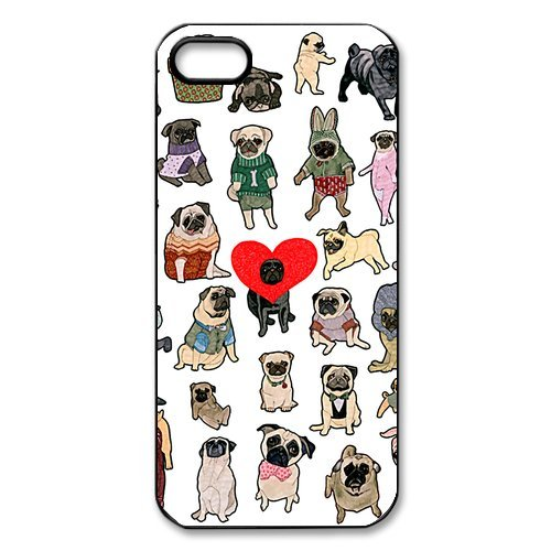[23 Pug Dogs Brighten Your Eyes iPhone 5 5S On Your Style Christmas Gift Cover Case] (Pugs Costumes)