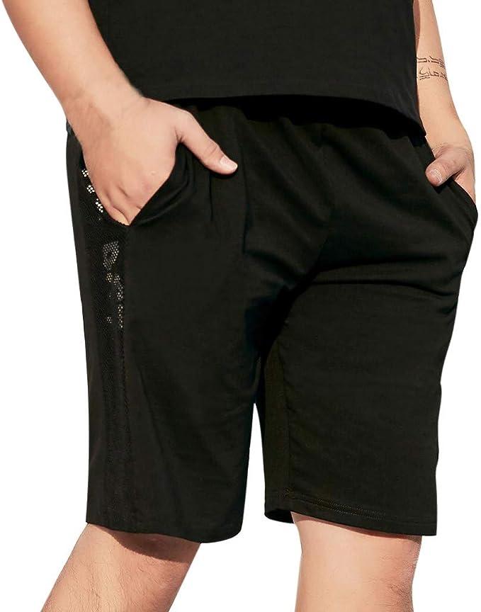 CLOOM Talla Grande Comodo Transpirable Pantalones Cortos para ...