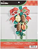 Bucilla Felt Applique Wall Hanging Kit, 13 by 17-Inch, 86678 Pinecones & Holly