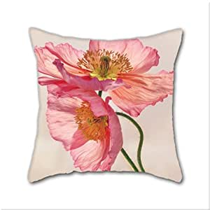 Light Pink Satin Throw Pillows : Amazon.com: Cotton Linen Throw Pillow, Decorative Pillows. Like Light Through Silk - Peach Pink ...