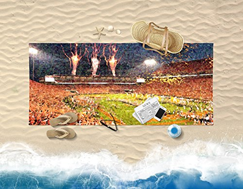 Death Valley at Night Painting Effect Beach and Bath Towel - Gift Idea for Husband Boyfriend Son College Football Fan for Summer Fun by Personalized Corner (Image #1)