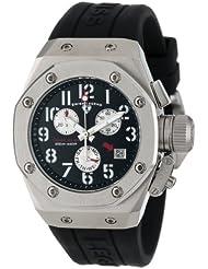 Swiss Legend Womens 10535-01 Trimix Diver Chronograph Black Dial Black Silicone Watch