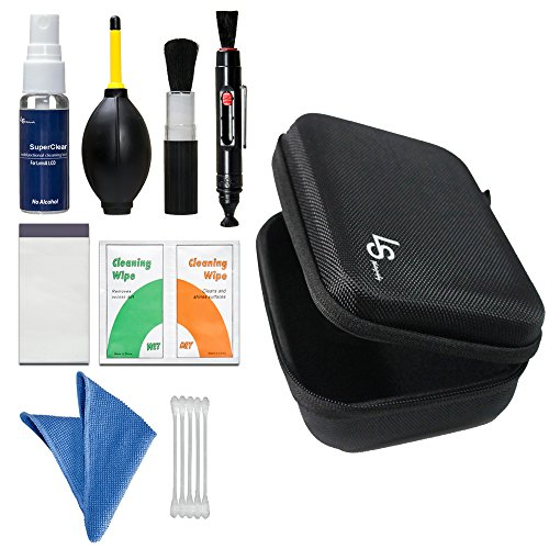 LS Photography Camera Lens Filter Cleaning Bundle Kit, Hard Shell Carry Case, Air Blower, Brush Pen, Cleaning Cloth, Liquid Cleaning Agent, Lipstick Brush, Wipe Tissue Pack, Photo Studio, LGG532
