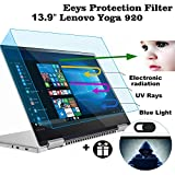 2 Pack Eyes Protection Filter Fit 13.9' Lenovo Yoga 920 2-in-1 Touch-Screen Laptop, MUBUY 13.9' Anti Blue Light & Glare Screen Protector Reduces Digital Eye Strain Help You Sleep Better