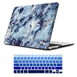 iLeadon Macbook Pro 13 Inch Case With CD ROM 2008-2012 Release Model A1278 Rubberized Hard Shell Cover+Keyboard Cover For MacBook Pro 13' Non Retina Display, Blue Marble