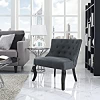 Modway Royal Fabric Armchair, Gray