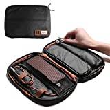 Travel Electronic Accessories Organizer Waterproof Hand Carrying Case Bag for Phone, Earphone Wire, USB Flash Drive, Plug, Power Banks and More (Black)