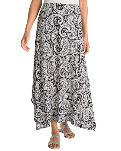 Chico's Women's Paisley Skirt Size 8/10 M (1) Black/White