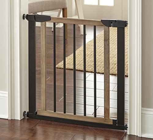 Nmn Designs Logan Dog Gate Indoor Pet Barrier Expandable