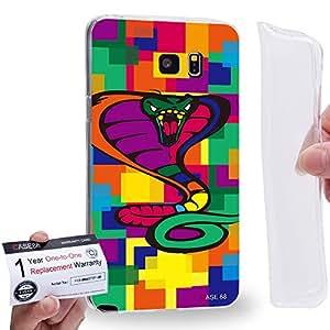 Case88 [Samsung Galaxy Note 5] Gel TPU Carcasa/Funda & Tarjeta de garantía - Art Drawing Cobra Kawaii Abstract Animals Art2573