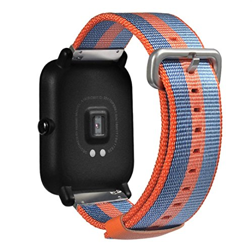 Price comparison product image MChoice Sports Watch Replacement Nylon Bracelet For xiaomi Huami Amazfit Bip Youth Watch (Orange)