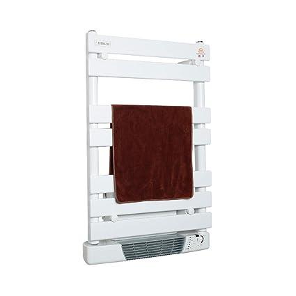 Homeure Radiador Toallero Calefactor Electrico Baño con Termostato Digital Programable Secatoallas Electrico con Termostato Inteligente,